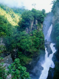 Rio Verde Falls into the Rio Pastaza - Rio Verde, Maca Photographic Print by Woods Wheatcroft
