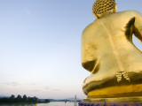 Buddha Statue at Sop Ruak, the 'Golden Triangle' on the Mekong River Photographic Print by Austin Bush