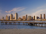Downtown at Sunset, Seen from Coronado Peninsula Photographic Print by Witold Skrypczak