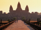 Angkor Wat Silhouetted Against a Sunris Photographic Print by Anders Blomqvist
