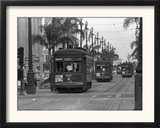 Canal Street Trolleys Framed Photographic Print