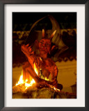 Quema Del Diablo (Burning of the Devil) Celebration in Antigua Guatemala Framed Photographic Print