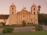 Mission Santa Barbara at Sunrise Photographic Print by Witold Skrypczak