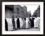 Pathan Women Observe Strict Muslim Purdah as They Come out to Vote at a High School Framed Photographic Print