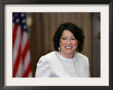 Sonia Sotomayor Arrives to Be Sworn in as First Hispanic and Third Woman in Supreme Court's History Framed Photographic Print