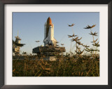 Space Shuttle Discovery at the Kennedy Space Center at Cape Canaveral, Florida, November 9, 2006 Framed Photographic Print by John Raoux