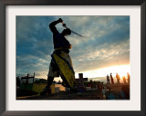 Dominican People Disguised as Cachuas Fight with Whips Over the Tombs Framed Photographic Print