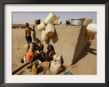Refugee Children Wait their Turn to Collect Water Supplies at a Water Station in Sudan Framed Photographic Print