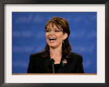 Sarah Palin, Vice Presidential Debate 2008, St. Louis, MO Framed Photographic Print