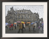 Tourists as They Cross the Street in Front of the Landmark Semper Opera House in Dresden Framed Photographic Print