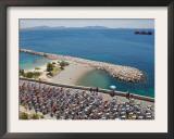Peloton Along Mediterranean Sea, Third Stage of Tour de France, Marseille, July 7, 2009 Framed Photographic Print