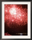 Fireworks Explode During the Opening Ceremony of the Vancouver 2010 Olympics Framed Photographic Print