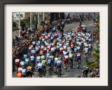 Third Stage of Tour de France, Leaving Old-Port Marseille, July 7, 2009 Framed Photographic Print