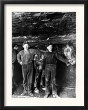 This 1908 Photo Shows Two Young Boys Working as Drivers Framed Photographic Print