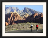 Two Cyclists Ride Along the 13-Mile-Long Scenic Drive Framed Photographic Print