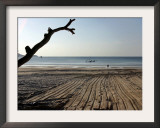 Foreign Tourist Walks Toward the Sea at Patong Beach Framed Photographic Print