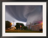 Huge Tornado Funnel Cloud Touches Down in Orchard, Iowa, Framed Photographic Print