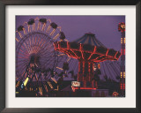 The Popular Midway Section of the New York State Fair Framed Photographic Print by Michael Okoniewski