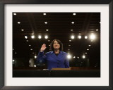 Supreme Court Nominee Sonia Sotomayor is Sworn in on Capitol Hill in Washington Framed Photographic Print