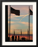 People Gather to Next to the Washington Monument Framed Photographic Print