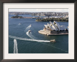 Ferries Pass the Sydney Opera House Framed Photographic Print