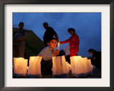 A Lebanese Boy Holds a Candle in Downtown Beirut, Lebanon Framed Photographic Print