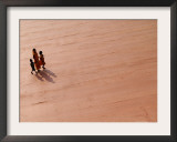 A Woman and Two Children Walk on a Newly Constructed Road in Sonapur Framed Photographic Print by Anupam Nath
