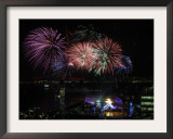 Fireworks Explode after the Cauldron Was Lit at the Vancouver 2010 Olympics Framed Photographic Print