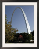 The Gateway Arch Rises High Above the Grounds of the Jefferson National Expansion Memorial Framed Photographic Print