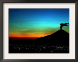 The Popocatepetl Volcano Sends out a Plume of Smoke Framed Photographic Print