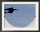 Competitor Performs During a Vertical International Skateboard Competition in Rio De Janeiro Framed Photographic Print
