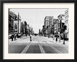 The Streetcar Tracks of Canal Street in New Orleans Framed Photographic Print