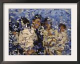 Senator-Elect Barack Obama and Family Covered in Confetti after He Delivered His Acceptance Speech Framed Photographic Print