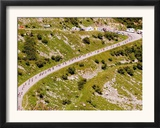 The Pack Rides Down the Glandon Pass During the 17th Stage of the Tour De France Framed Photographic Print
