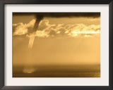A Water Spout Appears Just off the Coast of Palos Verdes Framed Photographic Print
