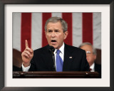President Bush Delivers His Fifth State of the Union Speech Framed Photographic Print