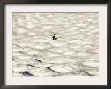 A Skier Makes His Way Down a Sea of Moguls at Sugarbush Ski Area Framed Photographic Print