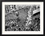 Mardi Gras Revelers Gather at Canal Street Framed Photographic Print