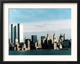 The World Trade Center's Twin Towers Dominate the New York Skyline Framed Photographic Print