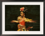 Mainland China Dance Group Perform an Arrangement Depicting Buddhist Imagery Found in the Grottoes Framed Photographic Print