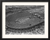 Fans Jam Philadelphia's Jfk Stadium During the Live Aid Concert Framed Photographic Print