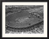Fans Jam Philadelphia's Jfk Stadium During the Live Aid Concert Framed Photographic Print