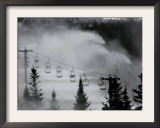 Snow Guns Pump out Man-Made Snow at Bretton Woods Ski Area, New Hampshire, November 20, 2006 Framed Photographic Print by Jim Cole