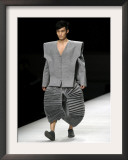 Model on Stage Displaying a Creation by Chinese Fashion Designer Ye Yaoya, Fashion Week in Beijing Framed Photographic Print