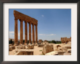 Ancient Roman Ruins of Baalbek, North-East of Beirut, in the Bekaa Valley, Lebanon, July 3, 2006 Framed Photographic Print by Mahmoud Tawil