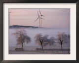 Wind Generators in Eifel Region Mountains Near Hallschlag, Germany, December 29, 2006 Framed Photographic Print by Roberto Pfeil