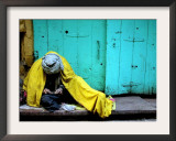 A Muslim Man Warms Himself Framed Photographic Print