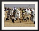 Tunisian Men Play Oggaf Framed Photographic Print
