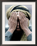 An Elderly Kashmiri Man Finishes Praying on the Outskirts of Balakot, Pakistan Framed Photographic Print