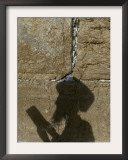 Praying at the Western Wall on Shavuot, Jerusalem, Israel Framed Photographic Print by Sebastian Scheiner